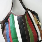 NEW LUCKY BRAND TECHNICOLOR LEATHER&SUEDE   PURSE*HOBO