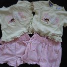 NEW DORA THE EXPLORER GIRLS SHORT SHIRT OUTFIT LOT TWIN