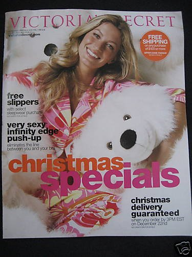 VICTORIA SECRET CATALOG GISELE CHRISTMAS SPECIAL 2007