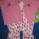 NWT GIRLS TWINS CARTER PINK ICECREAM PJ LOT 4 PIECES 2T