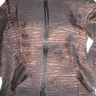 NEW COLDWATER CREEK CRINKLE METALLIC STRIPE JACKET XL