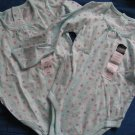NWT AQUA FLORAL L/S SHIRT BODYSUIT GIRL TWINS LOT 24 M