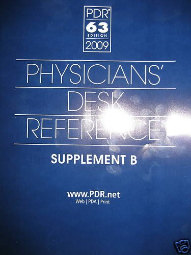 PDR 2009 Supplement B  Physician Desk Reference BOOK