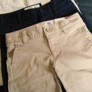 NWT GIRLS  OLD NAVY UNIFORM DRESS SHORTS  KHAKI 14