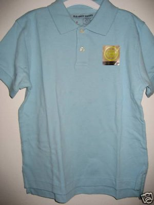 NWT OLD NAVY POLO SHIRT WRINKL RESISTNT BOY GIRL10-12 L