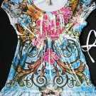 NEW LIMITED TOO JUSTICE BABYDOLL TATTOO  TOP L 14 BLING