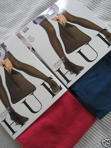 NWT NEW HUE OPAQUE TIGHTS SEXY COLORFUL PANTYHOSE 1 2 3