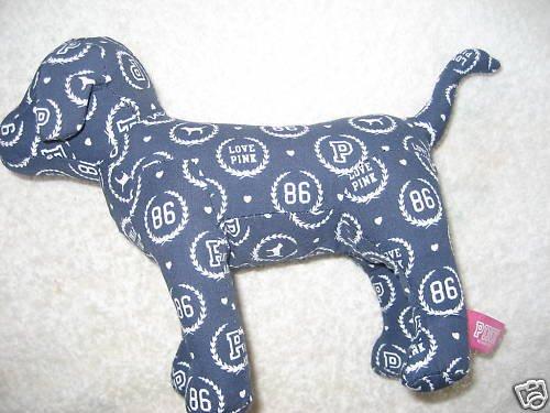 NEW VICTORIA SECRET PINK COLLECTION DOG DOGGIE blue