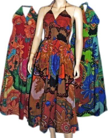 FUNKY PEOPLE BOHO HIPPIE SMOCKED  SUNDRESS FREE SHIP