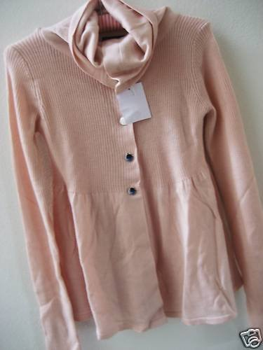 NEW VICTORIA SECRET WOOL BABYDOLL TRAPEZE SWEATER S