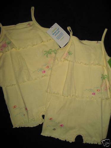 NWT LOT CARTER KEEP COOL RUFFLED STRAPPY SUNSUIT 24mo