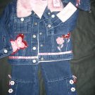NWT BUTTERFLY COWBOY WESTERN OUTFIT COAT  TWINS 2T GIRL