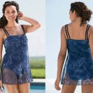 NEW SLIMMING MESH COVER-UP SWIMDRESS SWIMSUIT 32W 32 W