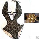 NEW VICTORIA SECRET GOLD CHARM CROCHET MONOKINI