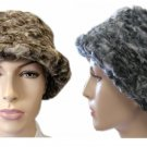 NEW PARKHURST SWIRLED FAUX FUR WARM FLAPPER CLOCHE HAT