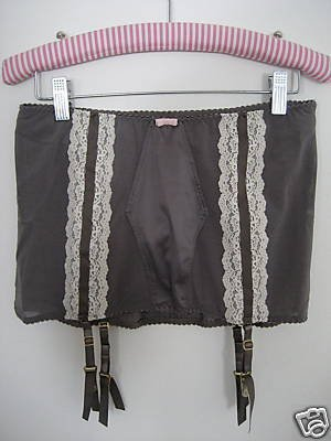 NWT VICTORIA SECRET RETRO HIGH WAIST GARTER PANTY