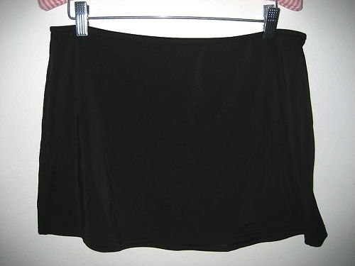 NEW VICTORIA SECRET BLACK SLIMMING SWIM COVER UP SKIRT