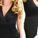 RALPH LAUREN MATTE JERSEY FAUX WRAP RUCHED EMPIRE DRESS