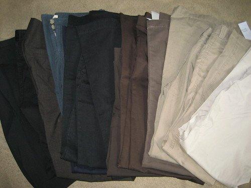 LOT 13  WHOLESALE /  WEAR VICTORIA SECRET MODA JEANS PANTS  BLACK TAN BLUE BROWN