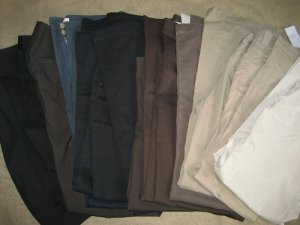 LOT 13  WHOLESALE /  WEAR VICTORIA SECRET MODA JEANS PANTS  BLACK TAN BLUE BROWN