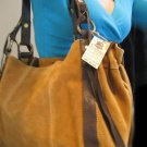 NWT LUCKY BRAND EASY RIDER LARGE FRINGE TOTE BAG PURSE SUEDE LEATHER BROWN