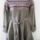 new VICTORIA SECRET Lambswool FAIR ISLE belted *TWIRL* SKIRT SWEATER DRESS M