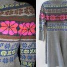 VICTORIA SECRET TURTLENECK Lambswool NORDIC FAIR ISLE SWEATER DRESS MEDIUM LARGE