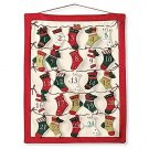 NEW COUNTDOWN CHRISTMAS STOCKING ADVENT CALENDAR HEIRLOOM AMERICANA