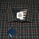 Men's Hickey Freeman Plaid Cotton Shirt Size Large