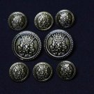 Helsinborg Blazer Buttons Set Antique Brass Replacement