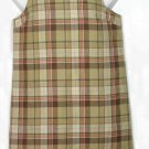 Women's Talbots Linen & Cotton Dress Plaid Sleeveless Size 8P