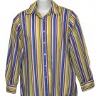 Women's Foxcroft Shirt Blouse Wrinkle Free Striped Size 6
