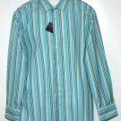 Men's Gap Dress Shirt Fitted Striped Size 17.5 X 37