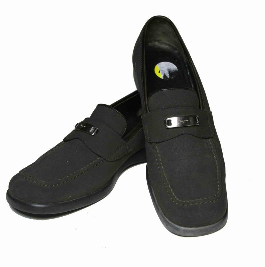 s salvatore ferragamo sport shoes loafers brown size 6 b