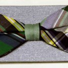 Mens Madras Bow Tie Plaid One Size Adjustable