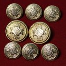Wandsworth Blazer Buttons Set Replacement Gold Brass
