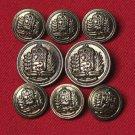 Mens Vintage Lord Provost Blazer Buttons Set Brass Shank