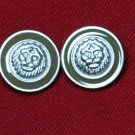 Two Mens Danbury Blazer Buttons Lions Head Replacement Shank