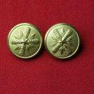 Two Men's Christopher Britton Blazer Buttons Shank Gold Brass