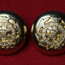Two Mens Welch Regiment Replica Blazer Buttons Brass