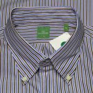 Men's Sid Mashburn Dress Shirt Striped Size XL 17.5 X 37