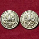 Two Mens Prestige Blazer Buttons Gold Brass Eagle Anchor Shank