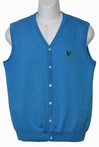 Mens Lyle and Scott Sweater Vest Size Slim Medium