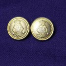 Two Mens Lord Provost Blazer Buttons Brass Shank