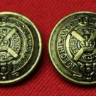 Two Men's Vintage Canadian Scottish Regiment Blazer Buttons Antique Brass