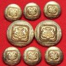 Mens Vintage J.G. Hook Blazer Buttons Set Crown Griffins
