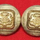 Two Mens Vintage J.G. Hook Blazer Buttons Set Crown Griffins 1980s