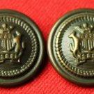 Two Men's Gwynedd Blazer Buttons Vintage Shank