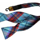 Mens Countess Mara Bow Tie Teal Red Plaid
