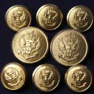 Men's Vintage Stanley Blacker Blazer Buttons Set Gold Brass Shank